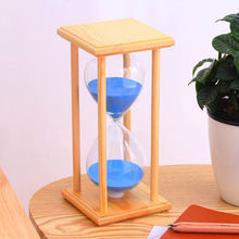 45/60 minutes wooden box colored crystal hourglass, solid timer, Valentines Day gift craft ornaments