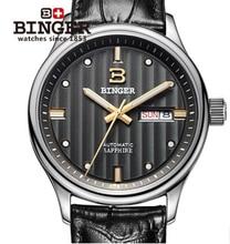Freeship Binger New Brand Binger watches Dual Time Military Watch Waterproof Relojes relogio esporte Men Sport stripe wristwatch