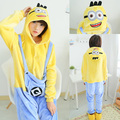 Adult Despicable Me Onesies Minion Jorge Cosplay Pajama Winter Sleepwear Hoodie Pajamas Party Dress Cosplay Costume Jumpsuit