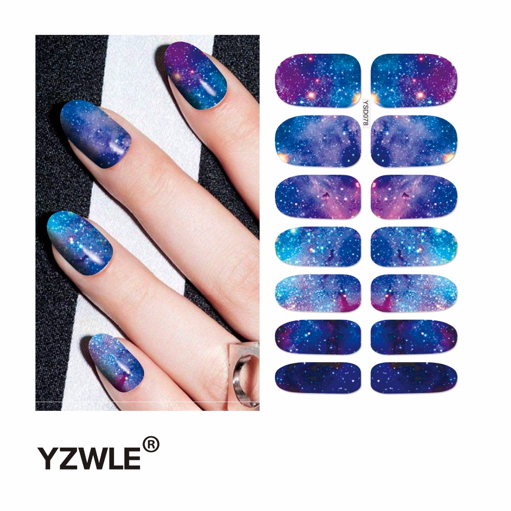 YZWLE 1 Sheet Water Transfer Nails Art Sticker Manicure Decor Tool Cover Nail Wrap Decal (YSD078) yzwle 1 sheet cartoon watermark water transfer design nail art sticker nails decal manicure tools