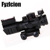 Hunting Tactical 4X32 Reflex Optics Riflescope Sight For Gun Rifle Magnifier Aimpoint Scope