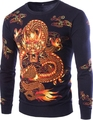 2016 New Winter high-quality men's printing dragon sweater hedging Men's clothing brand Casual Pullovers Sweaters