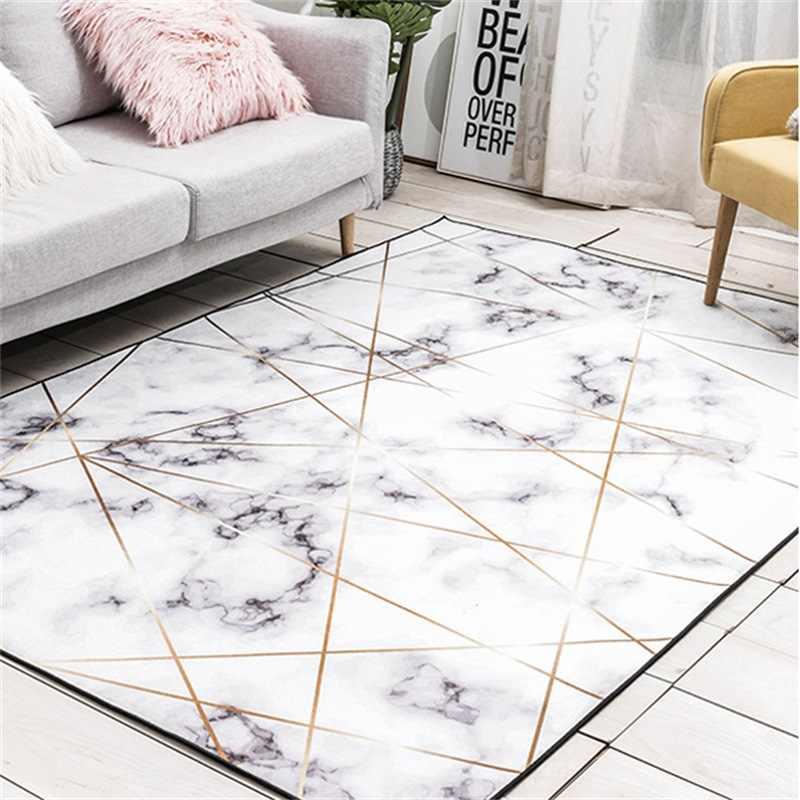 pour canapé chambre marbre salon rectangulaire tapis basse tapete Style tapis chevet géométrique couverture nordique Table or tapis uTc3F5lK1J