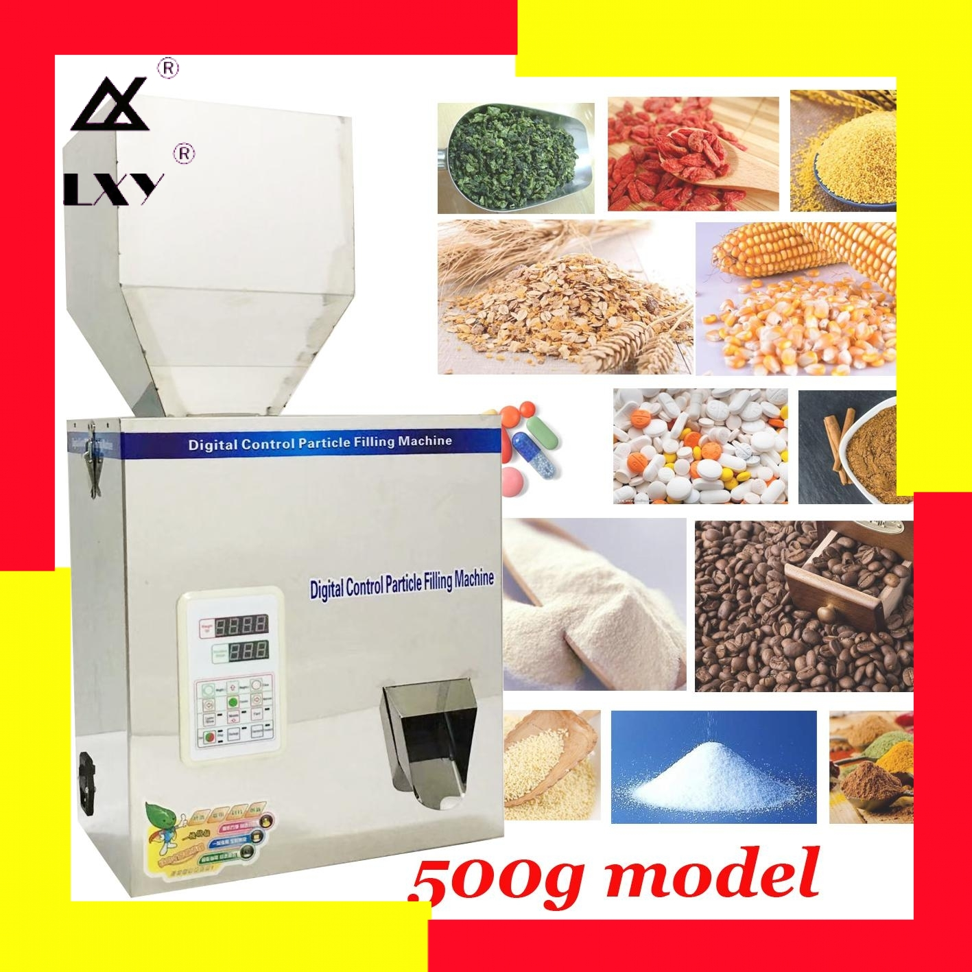 500g Racking Machine Weight And Filling Machine Corn Grain Rice Milk Powder Tea Leaf Sugar Chinese Wolfberry Medicinal Material