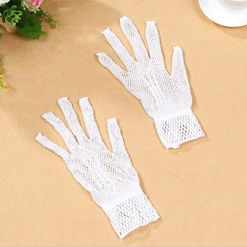 gloves white