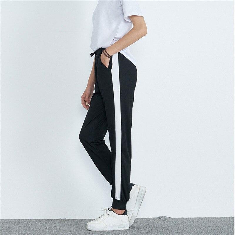 נשים אמצע מותן מקרית פסים הדפסת ספורט מכנסיים הרמון מכנסיים Jogger מכנסיים Pantalones דה Cintura Mediados דה Mujer Sarouel a1