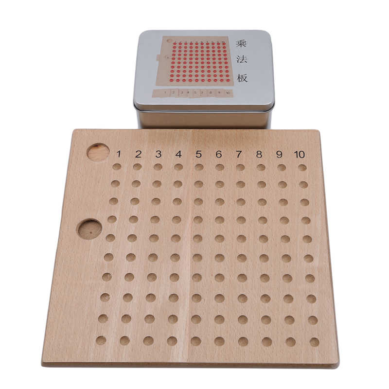子供のおもちゃモンテッソーリ数学教材早期教育木製カラフルな加算減算ボードミニファミリーセット