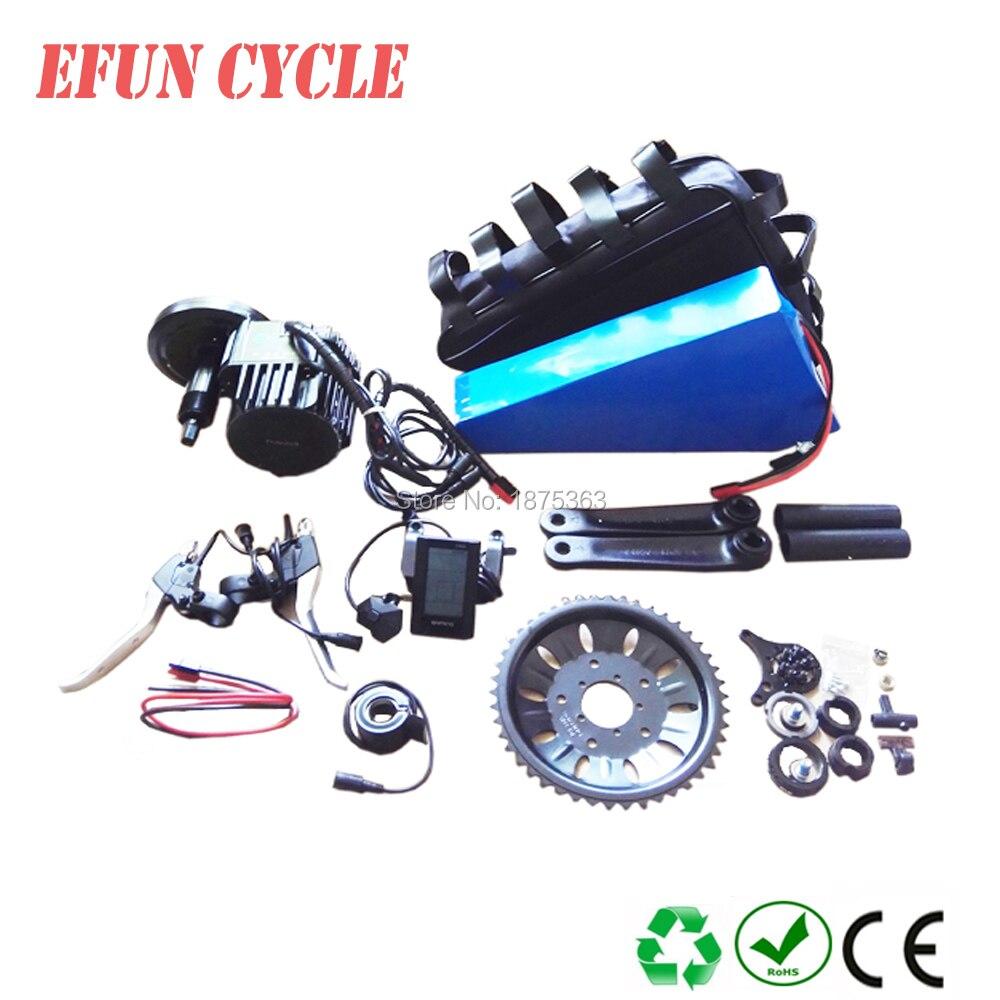 China electric bicycle kits fat bike kits BAFANG BBSHD 48V 1000W central motor kits with 48V 30Ah triangle battery+triangle bag