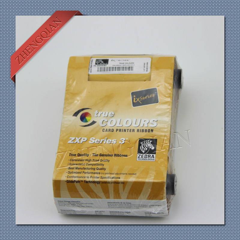 ФОТО Zebra 800033-301 black ribbon work on  zxp3 card printer