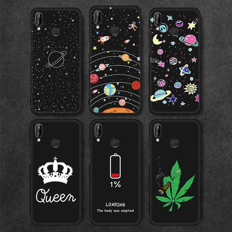 Cute Planet Print Soft Silicon Case For Honor 8X 7C 7A 10 Phone Cover For Huawei Mate 10 20 Pro P30 P20 P10 P8 P9 Lite 2017 Capa