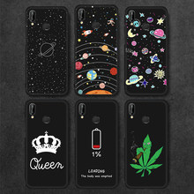 Cute Planet Print Soft Silicon Case For Honor 8X 7C 7A 10 Phone Cover For Huawei Mate 10 20 Pro P30 P20 P10 P8 P9 Lite 2017 Capa(China)