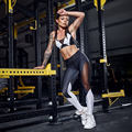 Weekeep 2016 Sexy Tracksuit Black White Patchwork Two Piece Set Tank Top And Legging Fitness conjunto feminino short e blusa