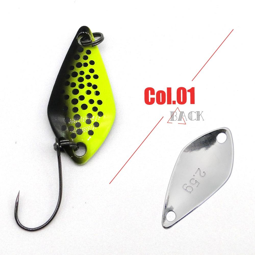 6pcs Spoon Fishing Lure 3cm 2.5g Spinner Hard Baits Trout Bass Blinker Fishing