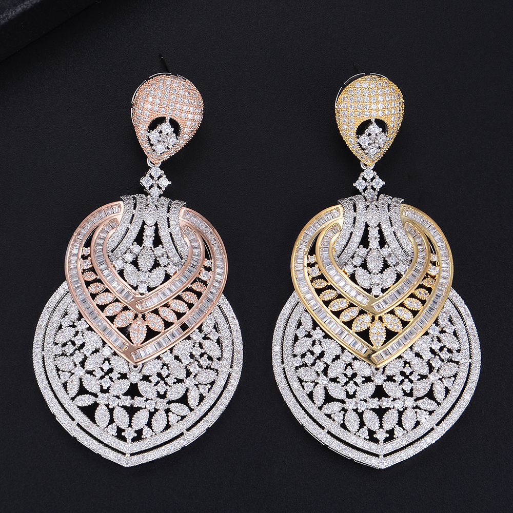 missvikki Elegant Gorgeous Romantic Fashion pendant Earrings for Women Important occasions Essential jewelry Cubic Zirconia