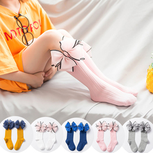 Fashion Children Socks With Bows Baby Girls Sock Knee High Cotton Toddler Long S
