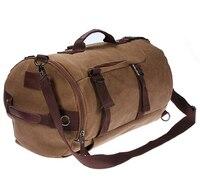 TEXU Men Canvas Backpack Rucksack Laptop Shoulder Outdoor Duffle Bag
