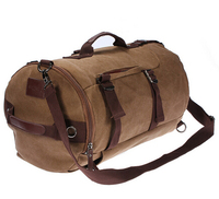 TEXU Men Canvas Backpack Rucksack Laptop Shoulder Outdoor Duffle Bag