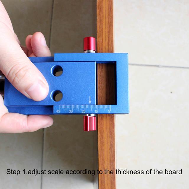 US $30 3 44% OFF|Aluminum Pocket Hole Jig Kit For Kreg Wood Hole Saw 9 5mm  Step Drill Bits 150mm PH2 Screwdriver Bit with Pocket Plugs Screws-in Drill