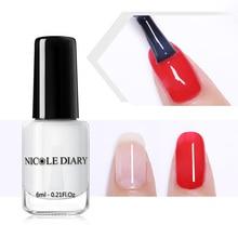 NICOLE DIARY 6 мл 2 в 1 Базовое покрытие верхнее покрытие лак для ногтей Отшелушивающий глянцевый стойкий лак для ногтей без запаха