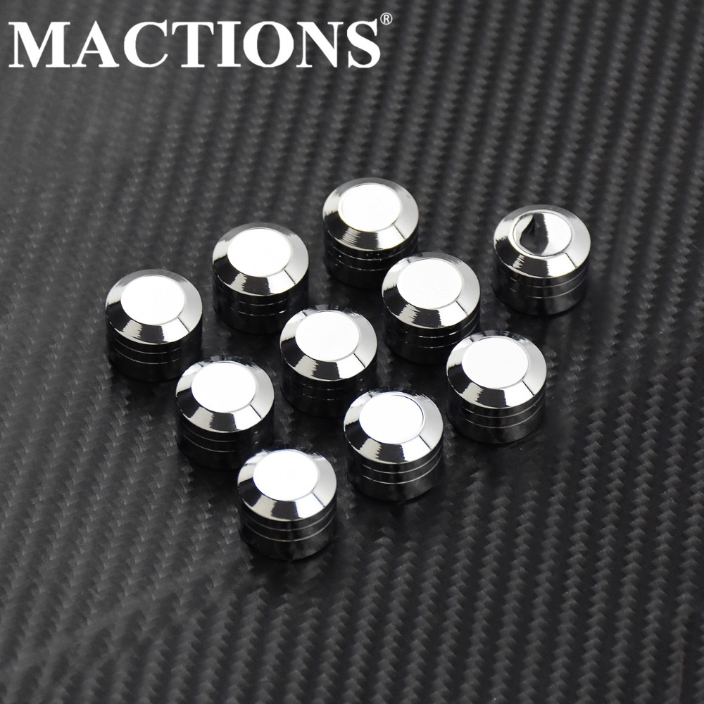 "Motorcycle 3/8"" Schrauben Inner Hoel 9mm Motor Screw Bolt Cover Cap Chrome Aluminum Alloy Kits For Harley"