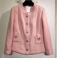 Зимняя куртка высокого качества женские, Удивительные Милая куртка, твид женские пальто из основной коллекции, элегантный Chaquetas Mujer Большие
