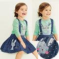 2 UNIDS Niñas Niños Princesa Conejo Tops + Dot Trajes Vestidos Faldas Conjuntos 1-5Y