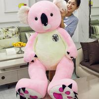big fluffy 70cm 95cm stuffed pink and grey koala plush toys ideal birthday and valentine's day gifts for girl friends