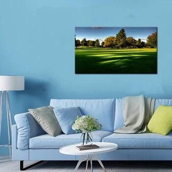 Kundenspezifische Plakatdrucke | Sport Malerei Druck Auf Leinwand Moderne Wohnkultur Wand Kunst Golf Natürlich Poster Kunstwerk HD Druck Bild Für Wohnzimmer Wand Dekor
