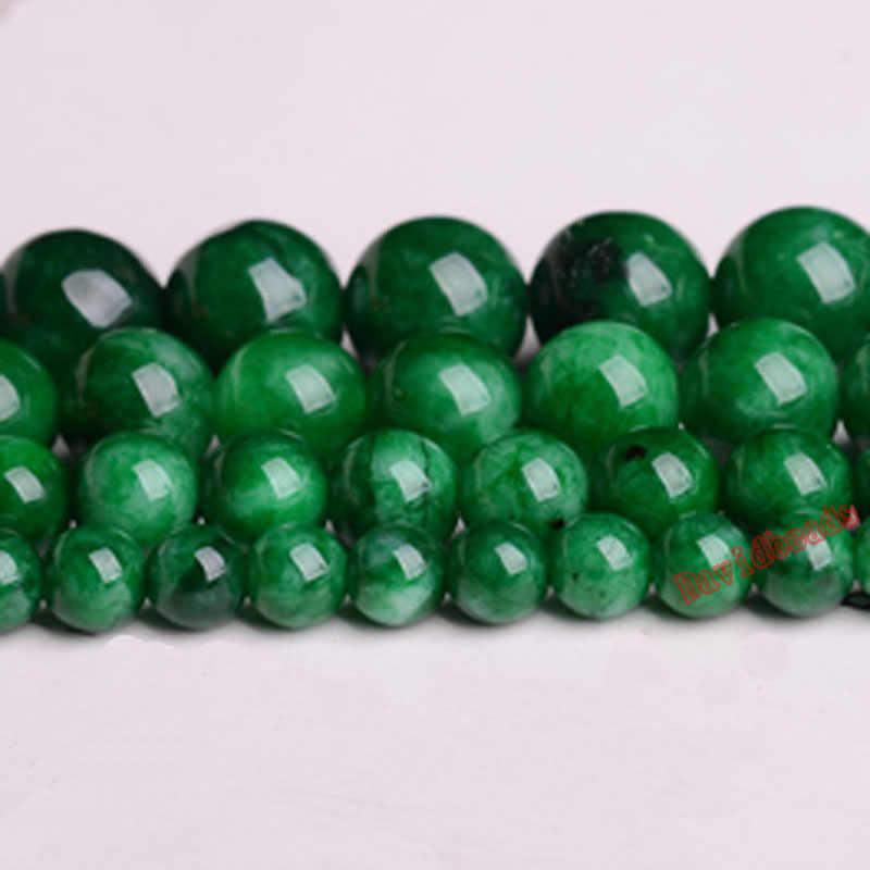 ราคาโรงงานหินธรรมชาติสีเขียวเปอร์เซียJadeeหลวมลูกปัด6 8 10 12มิลลิเมตรเลือกขนาดสำหรับเครื่องประดับทำ