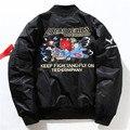Мужчины зима ma1 бомбардировщик куртка модного бренда clothing пилот куртка мужчины повседневная армия военная толщиной пальто хомбре ветровка