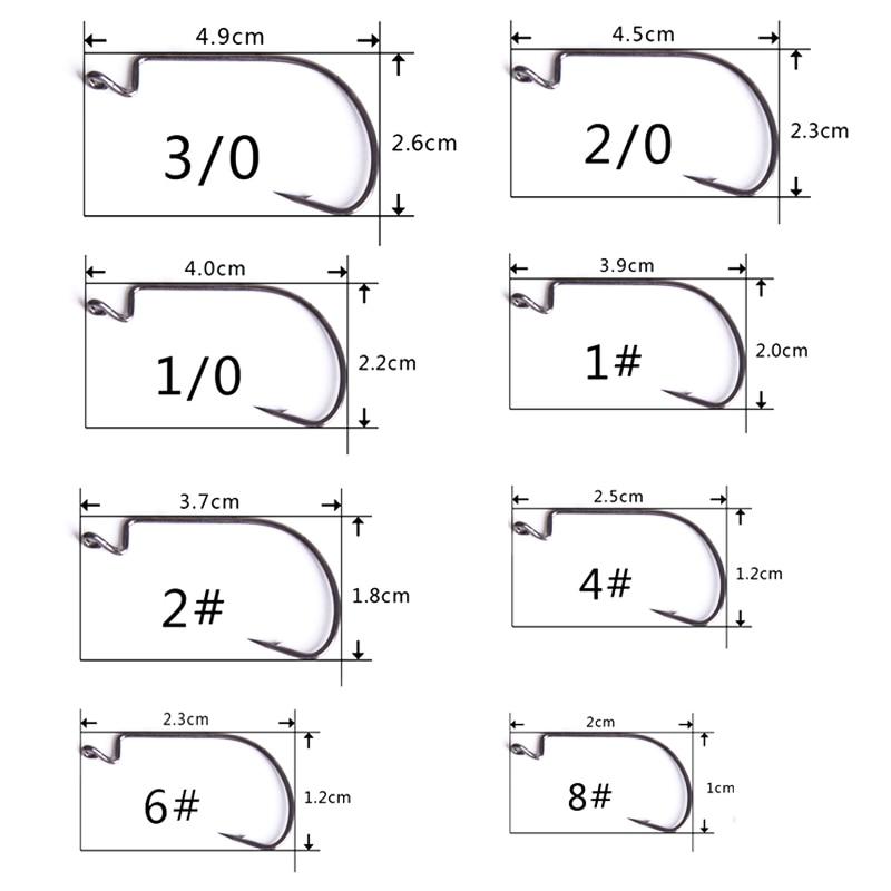 50pcs-lot-High-carbon-steel-fishing-hooks-2-4-6-8-crank-hook-lure-Worm-Pesca