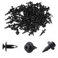 100 Pcs/lot Black 6.3mm Hole Diameter Plastic Rivets Car Door Trim Panel Retainer Clips Auto Bumper Fastener Discount