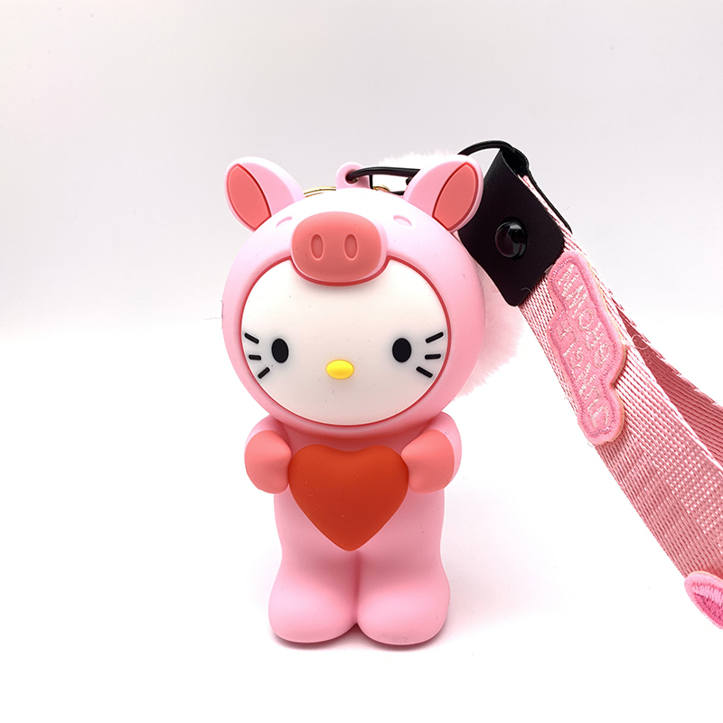 Automobiles Hard-Working Q Uncle Lanyard For Keys 3d Cartoon Kiticat Phone Strap For Id Pass Card Badge Gym Key Usb Holder Diy Silicone Strap