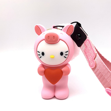 Q UNCLE Lanyard for Keys 3D Cartoon Kiticat Phone Strap For ID Pass Card Badge Gym Key Usb Holder Diy Silicone