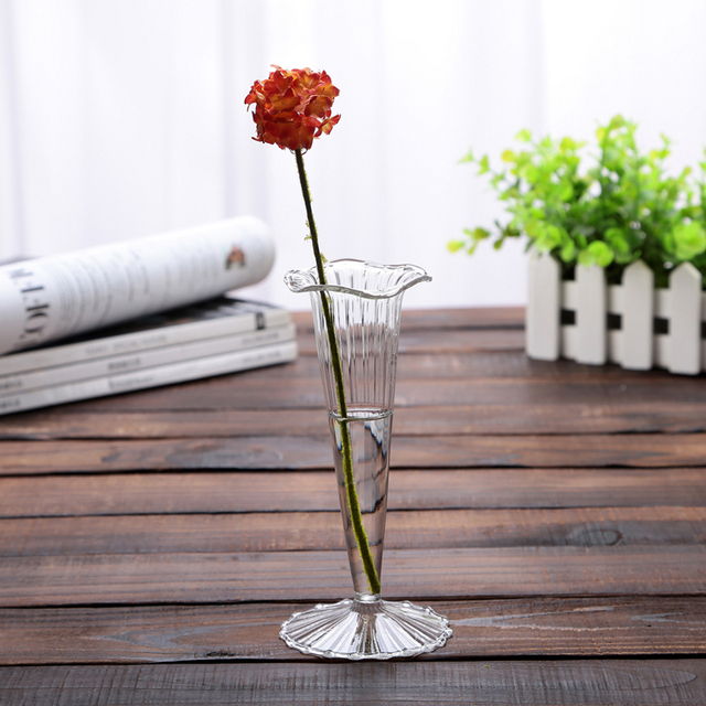 New Year Sale H155cm Strip High Glass Vase Floor Glass Vase