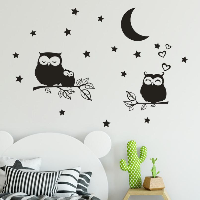 Cartoon Owl Vinyl Home Room Decor Art Wall Decal Sticker Bedroom Removable Mural