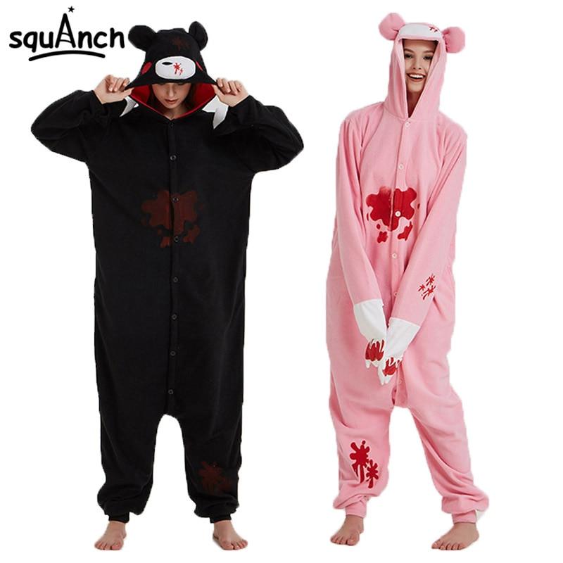 Gloomy Bear Kigurumi Cartoon Anime Animal Pajama Adult Unisex Polar Fleece Onesie Halloween Outfit Funny Cool Winter Overall