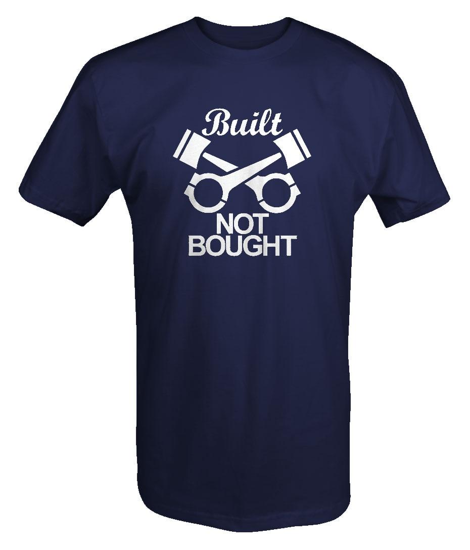 Built Not Bought Mechanic Pistons Engine Custom T Shirt Cartoon Hip