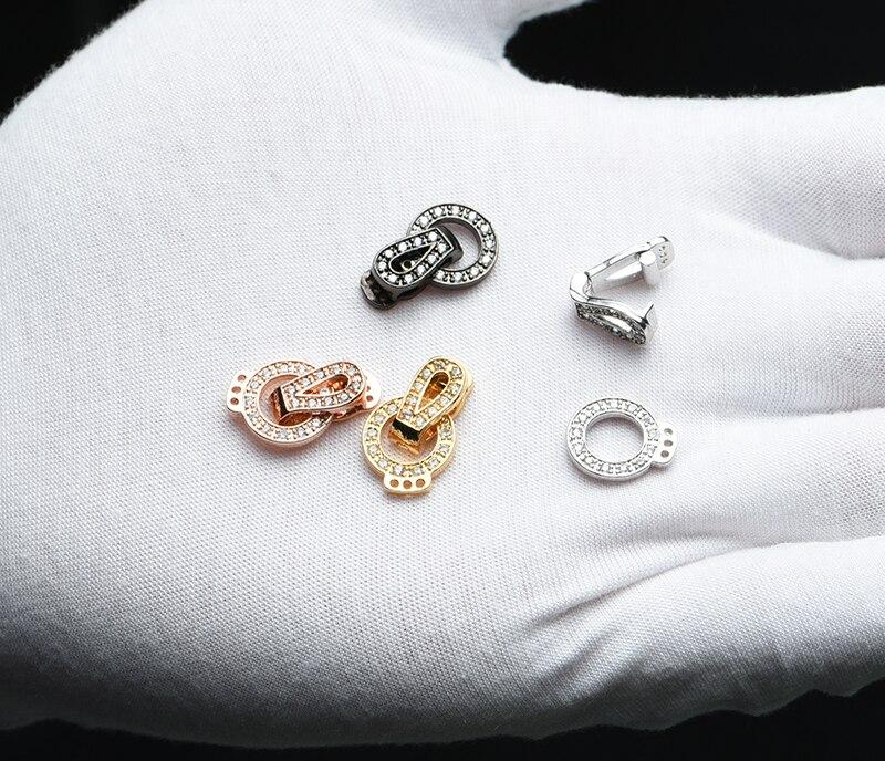 Застежки для DIY фурнитура для бижутерии браслетов рукоделия медные кубические циркониевые застежки для женские жемчужные ожерелья браслет оптом фермуар