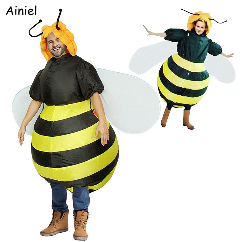 Inflatable Honeybee Wing Costumes Large Mascot Halloween Party Cosplay Costume Adult Fancy Dress Fun Toys Men Themed Costumes