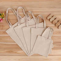 5 Sizes Pure Color Linen Grocery Foldable Bag Shopping Storage Reusable Eco Tote Bag Handbag Casual Shopping Bag