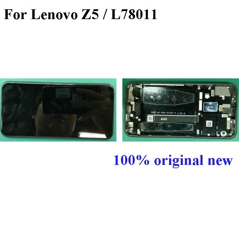 Pour Lenovo Z5 écran tactile LCD tactile verre pour Lenovo L78011 LCD écran tactile écran tactile assemblage avec cadre pour Lenovo Z 5