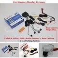 For Mazda 5 Mazda5 Premacy MK2 - Car Parking Sensors + Rear View Back Up Camera = 2 in 1 Visual / BIBI Alarm Parking System