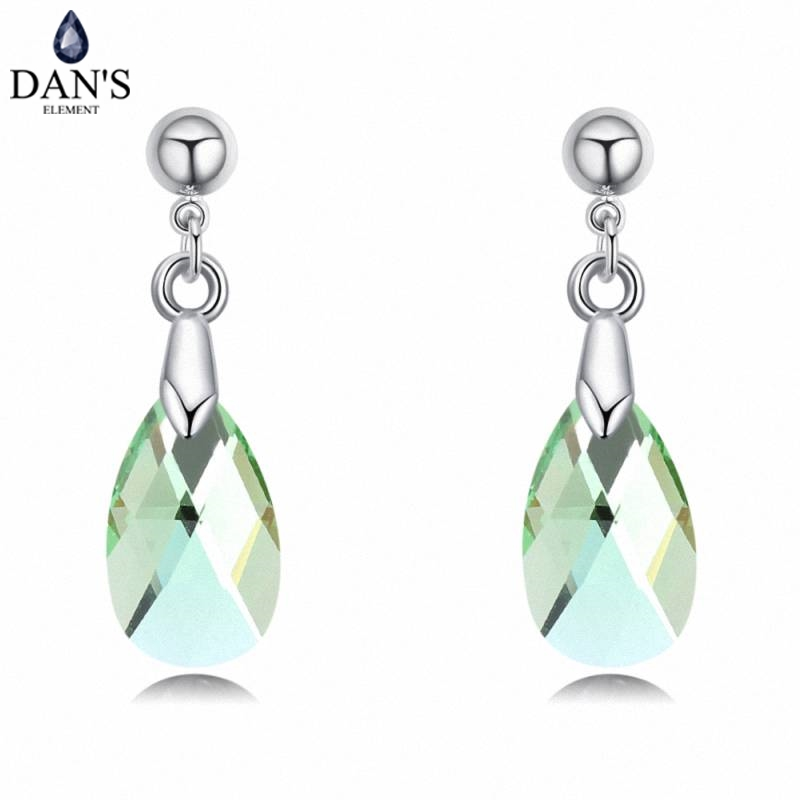DANS 5 Colors Real Austrian crystals Stud earrings for women Earrings s New Sale Hot Round 130288
