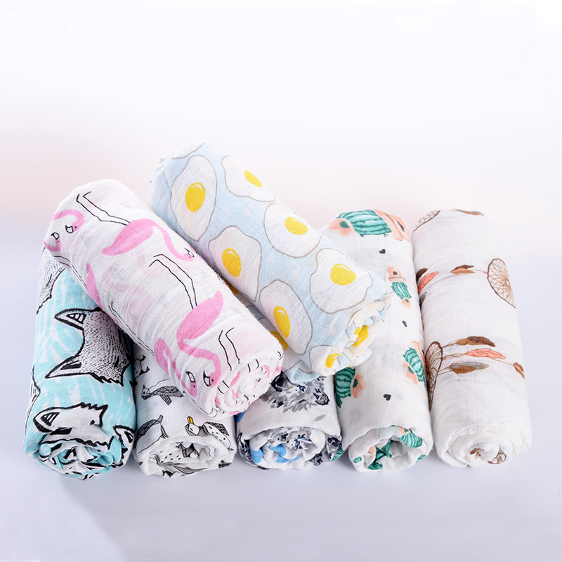 Muslin Cotton Baby Swaddles Blanket For Newborn As Aden Anais Receiving Swaddle Boys Girls Bath Towel Baby Manta Bebes Blankets