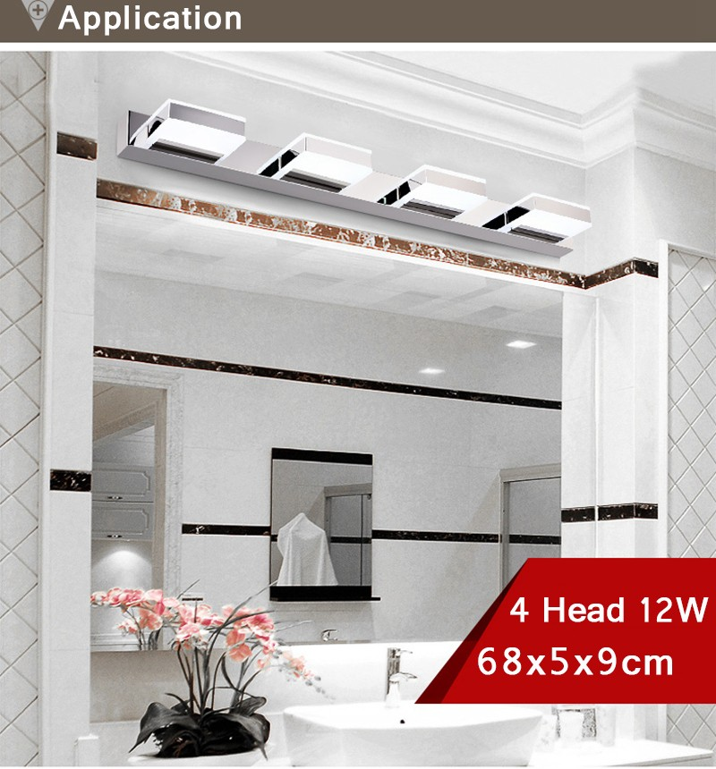 Morden 3W 12W Anti-fog Waterproof Acrylic Led Mirror Light Bathroom Wall Lamp Brief Individuality Make-up Mirror Cabinet Lamp