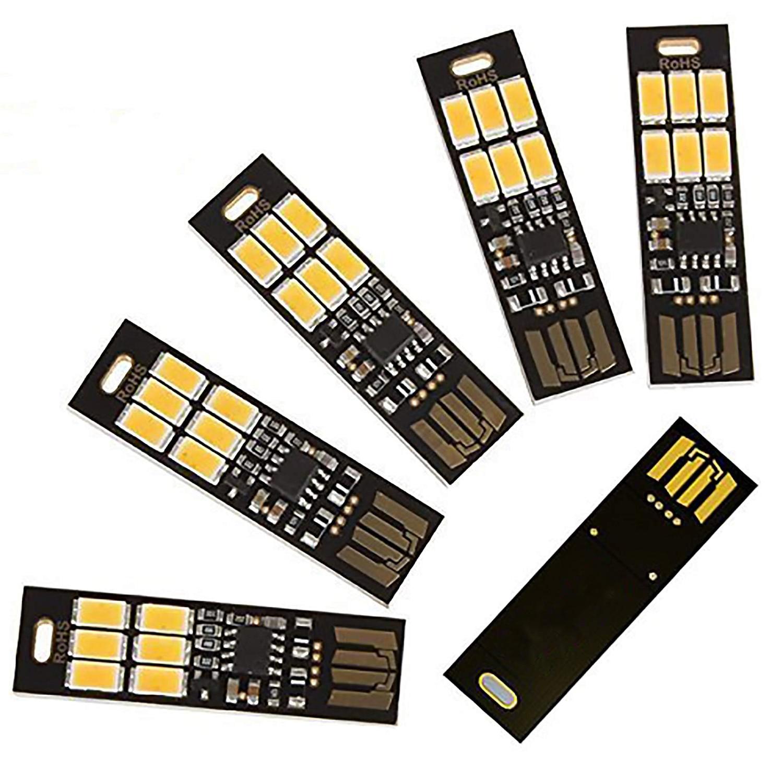 5 шт., светильник, брелок, супер яркий, 6 светодиодов, мини USB светильник, лампа с умным прикосновением, безэлектродный переключатель затемнения для клавиатуры ноутбука|Лампы для чтения|   | АлиЭкспресс
