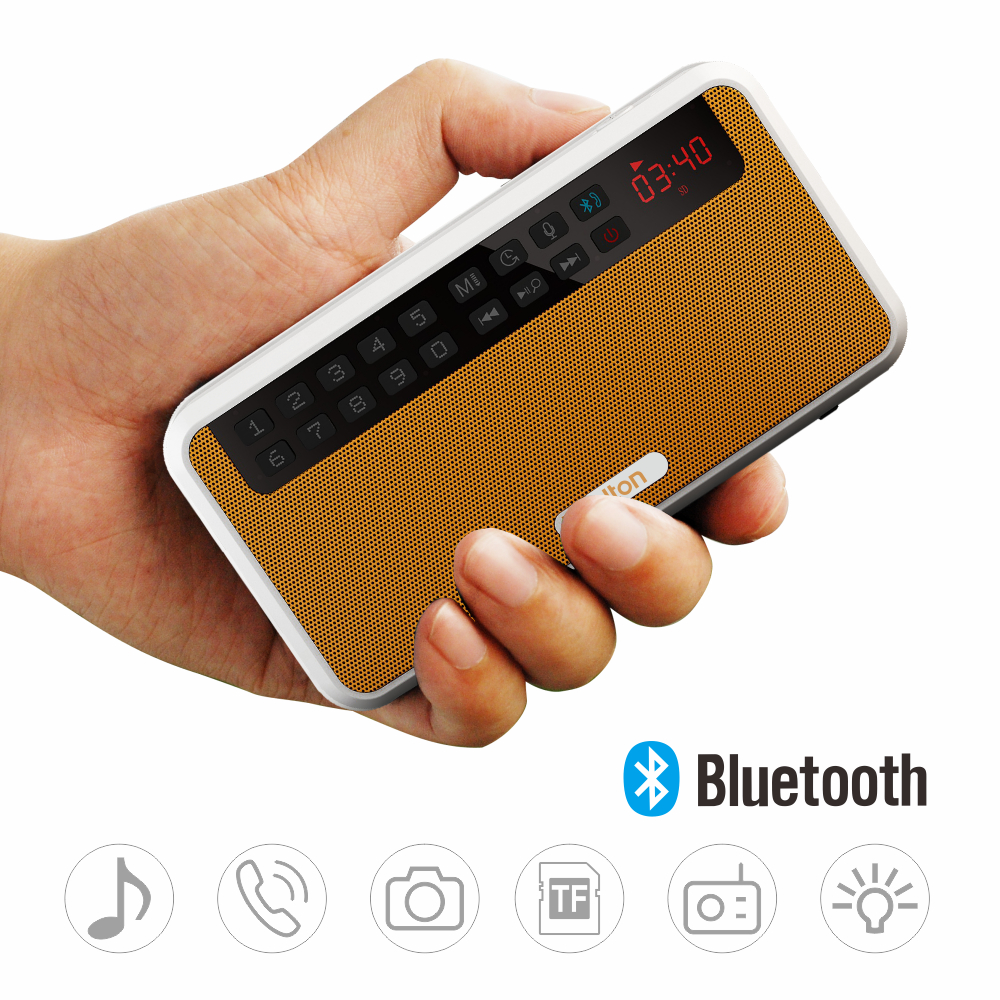 portable stereo bluetooth speakers usb music player orange. Black Bedroom Furniture Sets. Home Design Ideas
