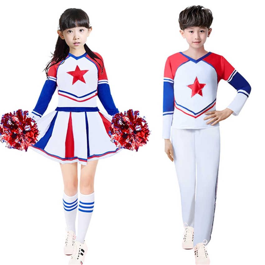 fec1801b9c77 Детские костюмы болельщика для мальчиков и девочек, школьная форма для  школьной команды, Одежда для
