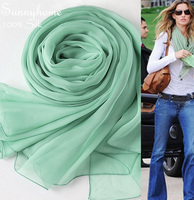 Women Blanket scarfs 2016 light green thin shawls and scarves high quality pashmina tapestry long scarf newborn wrap